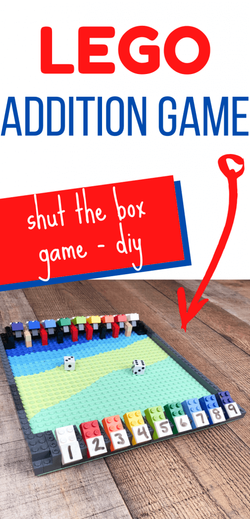 Practice addition with this fun DIY Shut the Box game - LEGO Version!